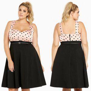 rare torrid ∙ polka dot swing dress